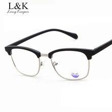 dceef62c629 Long keeper 2017 New Fashion Square Style Women Glasses Half Frame Brand Design  Glasses For Men Female Women Eyeglasses Frames
