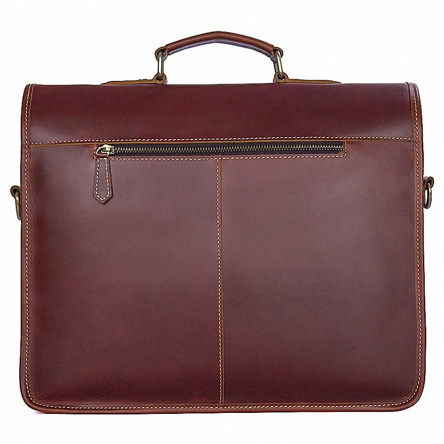 Business Man sac Theftproof Lock véritable mallette en cuir pour homme solide banque OL hommes mallette sac robe homme sac à main LI-1793 - 2