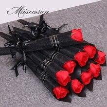 30/50 sztuk róż kwiatki z mydła kreatywny romantyczne upominki na wesele kwiat na walentynki dzień matki prezent firma promocja aktywności