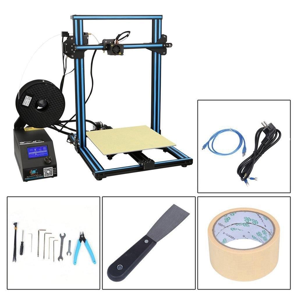 Créalité 3D CR-10S Haute Précision DIY 3D Imprimante Kit 300*300*400mm Taille D'impression Avec Double Z -tige Plomb Moteur Filament Détecteur
