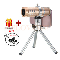 2017 Camera Lens Kit HD 12x Telephoto Zoom Lentes For IPhone 7 6 5 4 S
