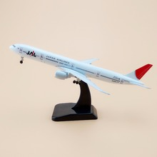 Alloy Metal Air JAL JAPAN Airlines B777 Airplane Model JAL Boeing 777 Airways Plane Model Wheels Aircraft Gifts 19cm