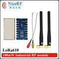 2 шт./лот Lora610 5000 м long range 915 МГц uart TTL Интерфейс высокая Чувствительность-139 дбм беспроводной модуль с резиновая антенна