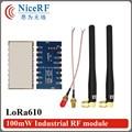 2pcs/lot Lora610 5000 meters long range 915MHz TTL Interface high Sensitivity -139 dBm uart wireless module with Rubber antenna