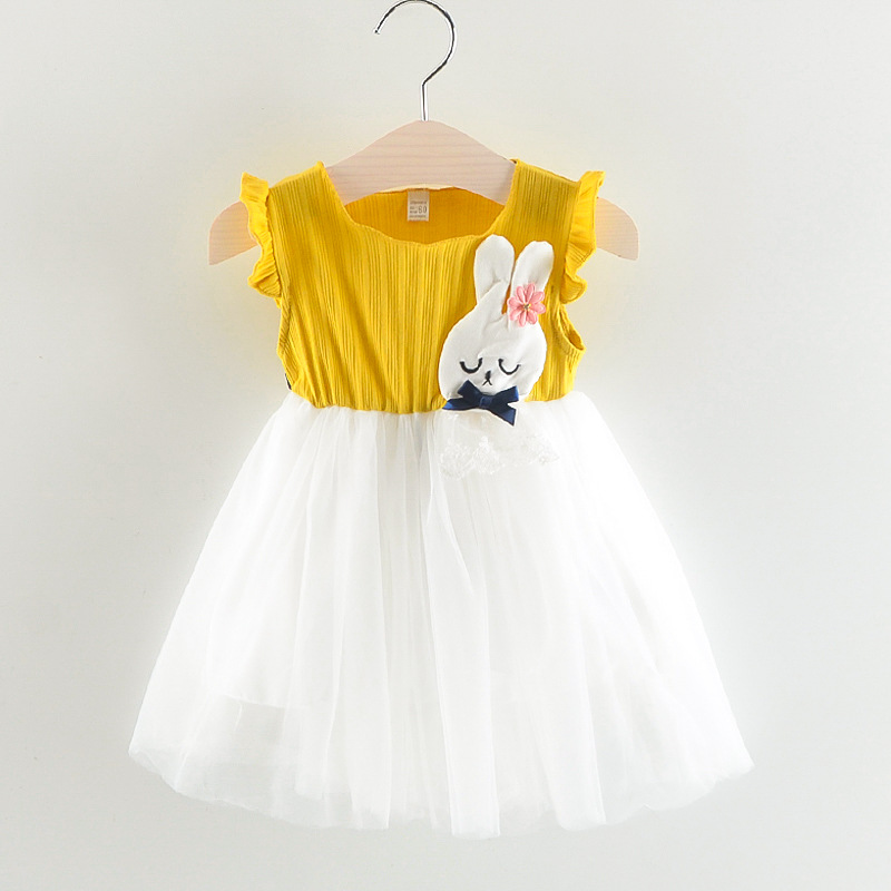 1-6Y Baby Girls Dress Summer Dresses Princess Dress White Birthday Dress A- Line Dress K ...