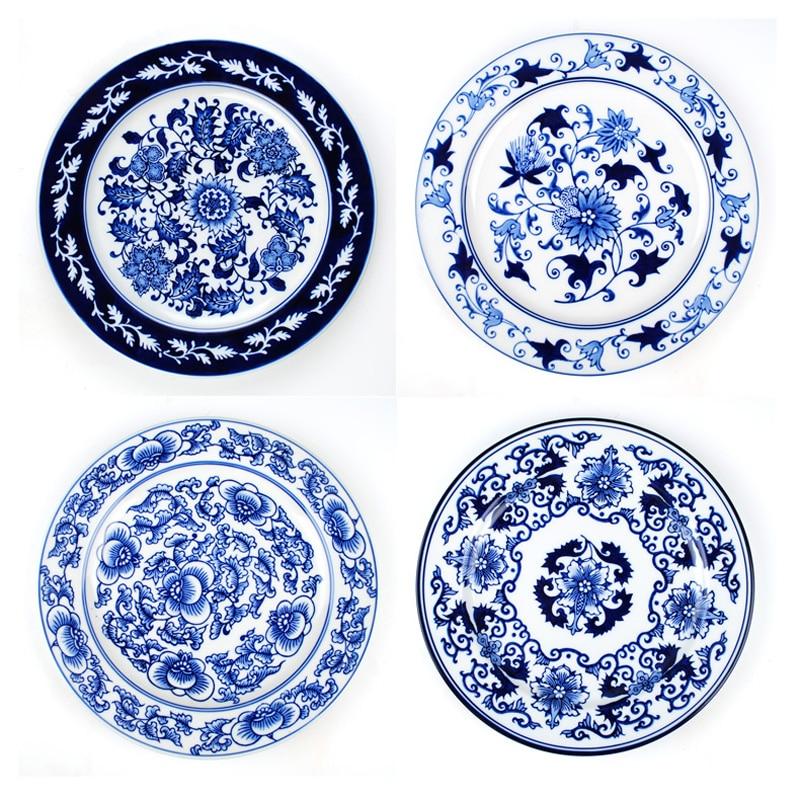 Jingdezhen Ceramics European-style Foreign Trade Mediterranean Blue And White Porcelain Wall Decoration Plate Wall  sc 1 st  AliExpress.com & 1 Piece Chinese Antique Porcelain Blue And White Decorative Plates ...