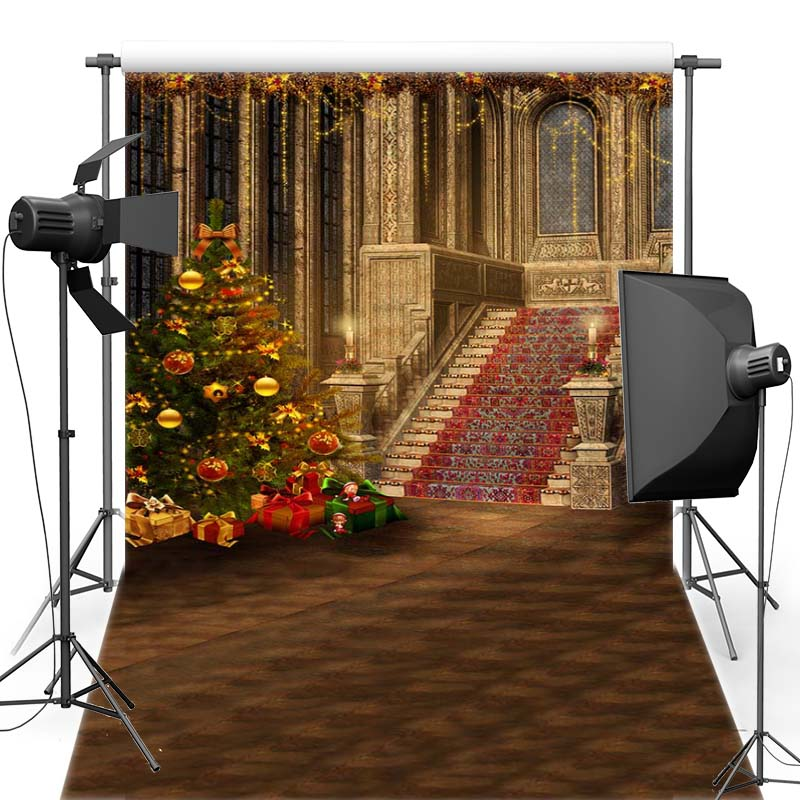 MEHOFOTO Christmas Vinyl Photography Background Red Carpet For Family New Fabric Flannel Backdrop For Children Photo Shoot 6378 retro background christmas photo props photography screen backdrops for children vinyl 7x5ft or 5x3ft christmas033