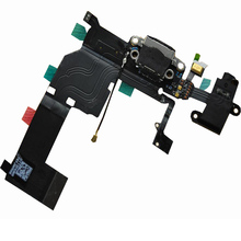 Charger Port Dock USB Connector Flex Cable For iPhone 5C Headphone Audio Jack Flex Ribbon Replacement cltgxdd 5pcs 10pcs for huawei honor v10 usb charger charging connector port flex with headphone earphone audio jack port