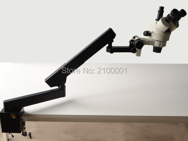 FREE SHIPPING 7X 90X STEREO ZOOM MICROSCOPE ARTICULATING STAND MICROSCOPE SZM2 0X LENS