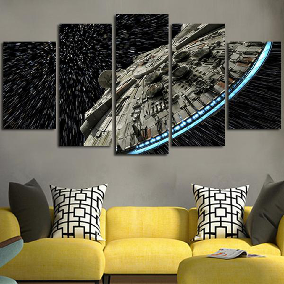 Modern Wall Art Pictures Home Posters 5 Panel Star Wars