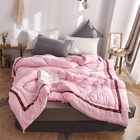 Silk Quilt 100% Silk Comforter Pink Blanket Summer & Winter Duvet Filling Mulberry Comforter Natural Silk King Queen Twin Size