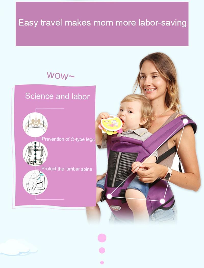 Newborn Baby Carrier Kangaroo Toddler Sling Wrap Portable Infant Hipseat Baby Care Waist Stool Adjustable Hip Seat 0-36 Months (23)