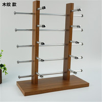 Multi styles and Layers Wood Sunglass Display Rack Shelf Eyeglasses Show Stand Jewelry Holder for Multi Pairs Glasses Showcase