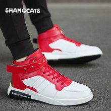 2018 Autumn Winter Fashion Sneakers For Men Classic Lace-up High Style Vulcanized Shoes New Popular Men's Shoes Zapatos Hombre