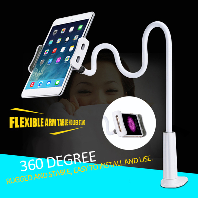 2017 New Arrival Lightweight Tablet Lazy 360 Degree Flexible Arm Table Holder Stand Desktop Table Tablet Support Mount For Ipad