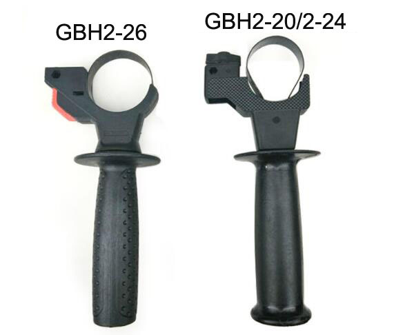 1pc Spare Part Black Plastic Auxiliary Side Front Handle for Bosch GBH2-26 GBH 2-20/2-24/2-26 1pcs silver or gold tone aluminum metal electric hammer piston part cylinder for bosch gbh 2 26 2 20 2 24
