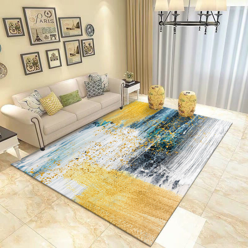 Ink Abstract Living Room Carpet Home Rugs For Bedroom Sofa