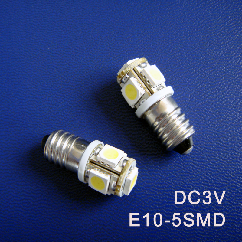 High quality DC3V E10 Led Warning Signal Indicating Lamp 3V Pilot lamp Instrument Light pinballs Bulbs free shipping 100pcs/lot