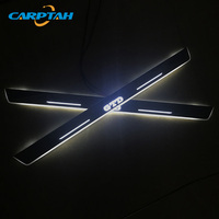 CARPTAH Trim Pedal Car Exterior Parts LED Door Sill Scuff Plate Pathway Dynamic Streamer light For Volkswagen Golf 7 GTD 2014 16