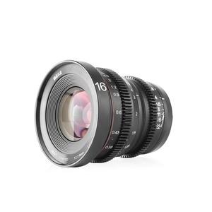 Image 2 - Meike Mk 16 Mm T2.2 Handmatige Focus Asferische Portret Cine Lens Voor Micro Four Thirds (Mft, m4/3) Mount Olympus Panasonic