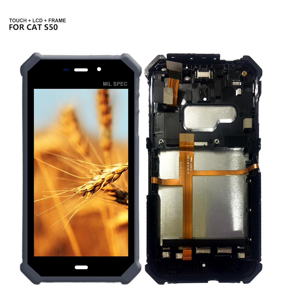 For Caterpillar CAT S50 Touch Panel Screen Digitizer LCD Display Assembly Replacement With FrameFor Caterpillar CAT S50 Touch Panel Screen Digitizer LCD Display Assembly Replacement With Frame