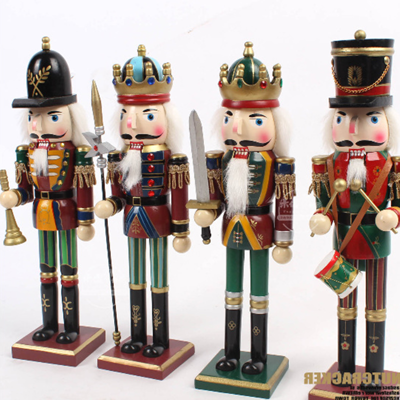 Christmas Nutcracker.Us 10 76 40 Off 30cm New Wooden Cartoon Candy People European And American Wind Puppet Christmas Nutcracker Doll Child Gift In Figurines