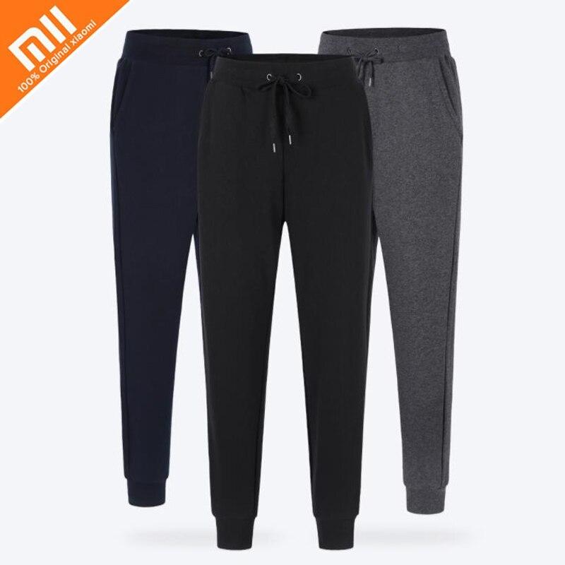 Новые xiaomi uleemark Мужская простой сдержанность ноги вязать Штаны повседневные эластичные мужские фитнес Штаны свободные пот Штаны брюки