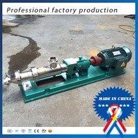 Chinese 50hz/60hz 1hp Sanitary G type single screw pump High viscosity colloid pump