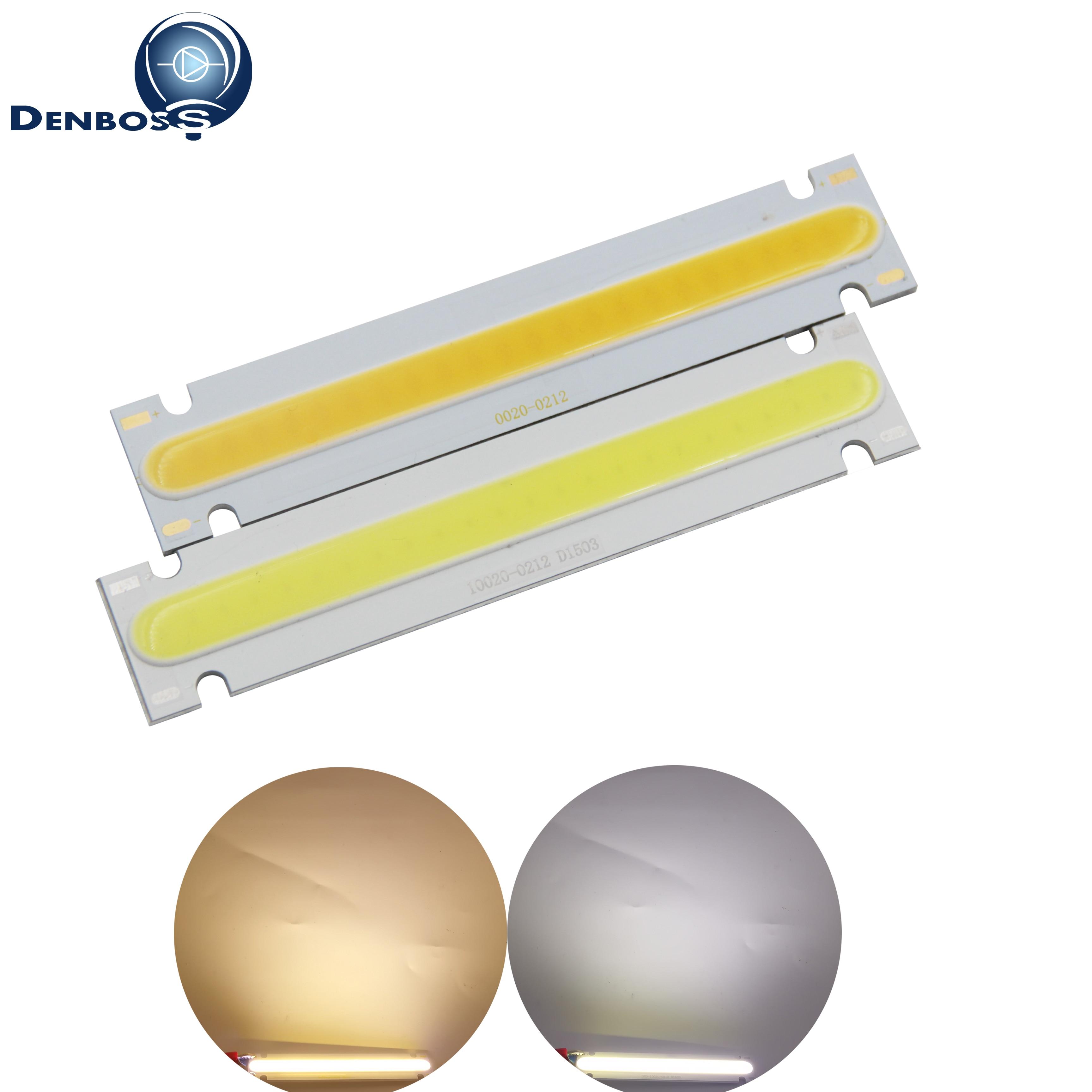 Allcob Manufacturer LED COB Strip Module Light Source Lamp 6V DC White Warm White 100x20mm 5W LED FLIP Chip Bulb For DIY Lamp