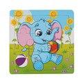 Nova chegada elefante de madeira jigsaw puzzles toys for kids educação e aprendizagem toys alta qualidade