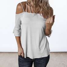 2019 Hot Female Casual Lacing Solid Holiday T Shirt Sexy Women Summer Off Shoulder Five Color Flare Sleeve Tops Plus Size S-XL 2019 hot female casual lacing solid holiday t shirt sexy women summer off shoulder five color flare sleeve tops plus size s xl