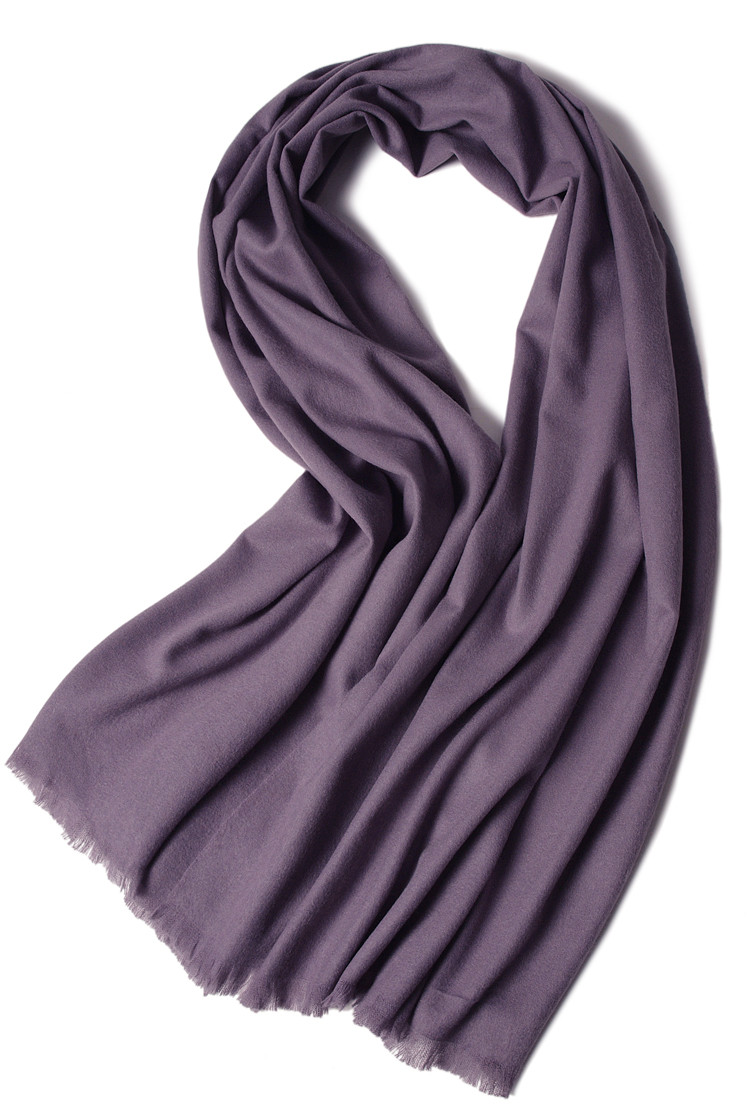 High Grade 100%goat Cashmere Mid Thick Women's Fashion Boutique Scarfs Shawl Pashmina Solid Color 70x200cm
