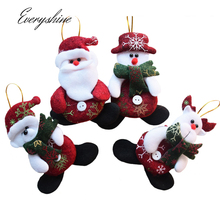 12pcs/lot Non-woven Santa Claus Hanging Ornaments Xmas Festival Party Christmas Tree Decoration Gift Baubles for Home DS206