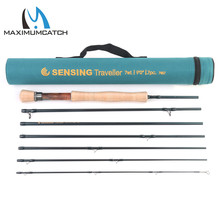 Maximumcatch 9FT 5/6/7/8WT 7pcs Traveler Fly Fishing Rod Combo Graphite IM10/30T+36T Carbon Fiber Fly Rod with Fly reel Combo
