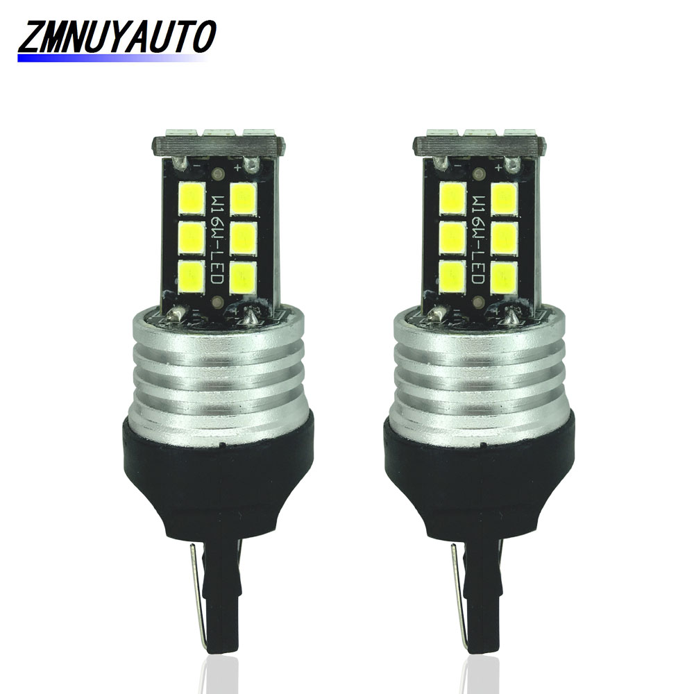 2x <font><b>T20</b></font> <font><b>Led</b></font> 7443 7440 15SMD Car Tail <font><b>Rear</b></font> Stop <font><b>Bulb</b></font> Auto <font><b>Led</b></font> Turn Signal Brake Light W21W WY21W W21/5W Canbus White Amber Red image