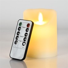 LED Real Flame-effect electronic flameless candle light+8 keys remote control/large DIY simulation candle pary wedding birthday