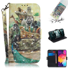 2019 Hot TPU Leather Case For Samsung Galaxy A50 A70 3D Relief Flip Mobile Phone Bag Coque A30 A40 Wallet Cover