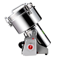 Electric Stainless Steel Auto Grinder Machine 3200W for 1000G Grains Beans Cereal Mill Pulverizer Superfine Dry Grinding Machine