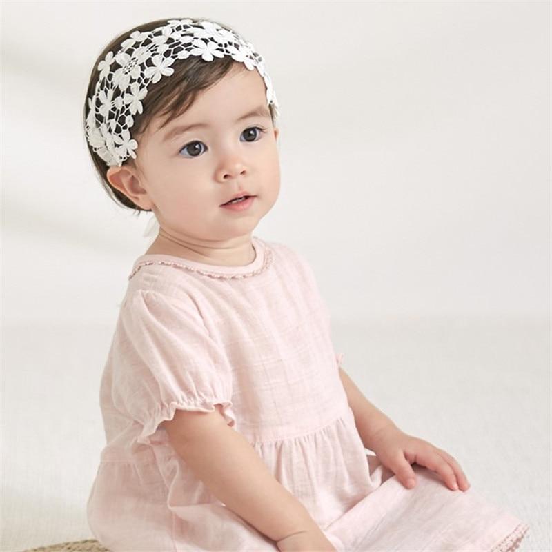Baby Girls Fashion New Hairhoop Crown Princess  Lace Hairband Newborn Baby Flower Pattern Lovely Hair Accessories Hot SaleBaby G