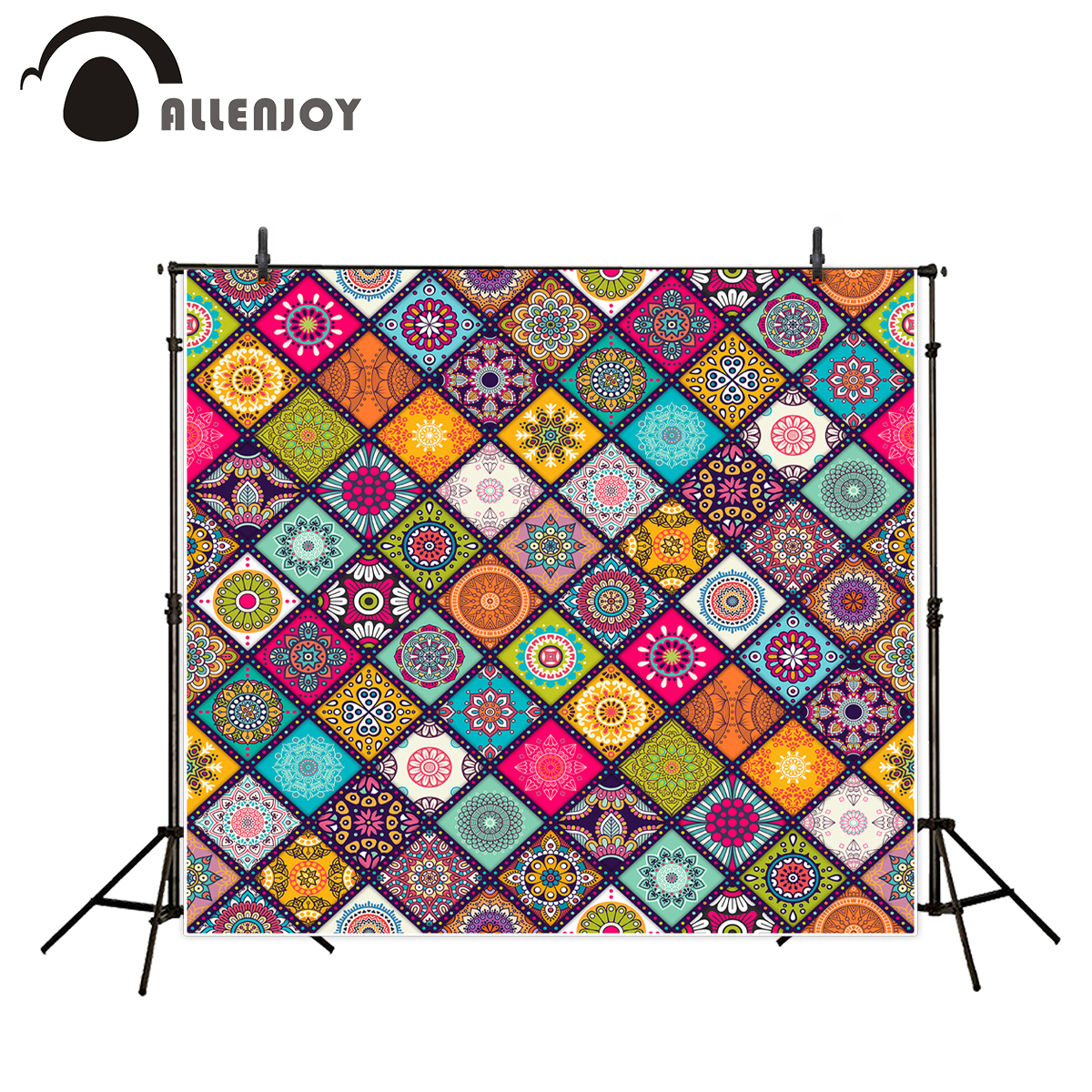 Allenjoy Photographic Background Eid al-Fitr Style photocall Colourful Islam Pattern backdrop Ramadan Kareem camera fotografica islam misrepresented by muslims