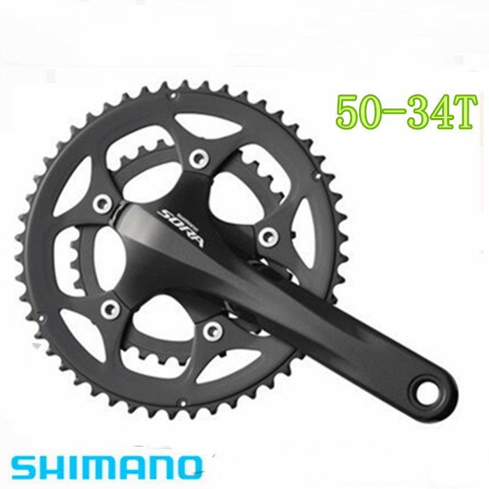Shimano Sora FC-3550/3503 BIKE BICYCLE Crankset, 170 mm, 50/34T звезда передняя shimano для fc rs500 34t mh черная для 50 34t y1pr34000