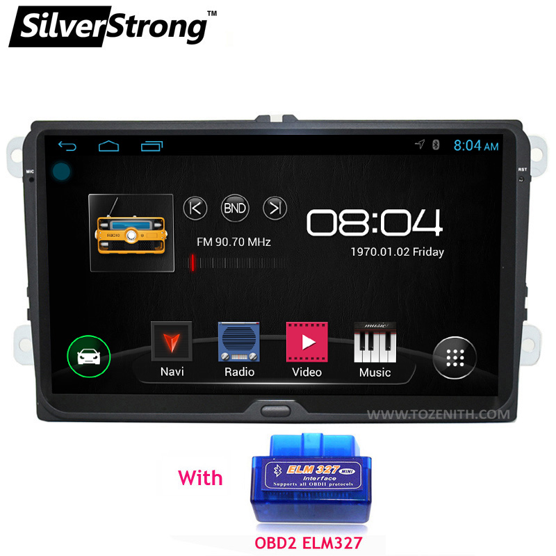 SilverStrong Android 9inch for B6 B7 Car DVD GPS For Volkswagen Golf GPS For VW Polo Car Stereo Radio GPS without DVD 67S-68S