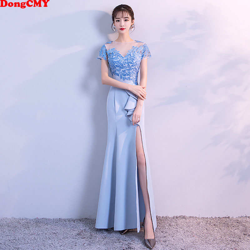 DongCMY 2019 Long Bride Women   Bridesmaid     Dresses   Lace Eroidery Party Gown