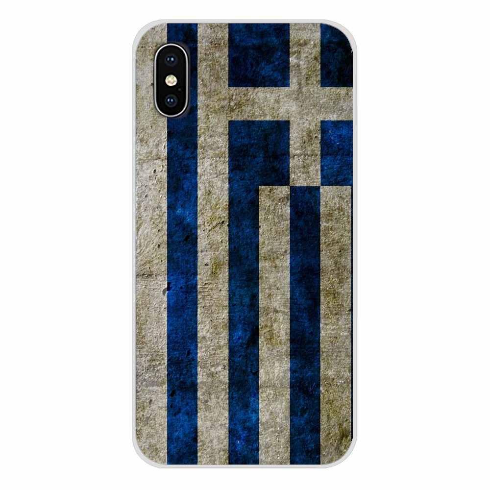 لسامسونج غالاكسي A3 A5 A7 J1 J2 J3 J5 J7 2015 2016 2017 GR اليونانية اليونان العلم راية نمط اكسسوارات الهاتف قذيفة يغطي