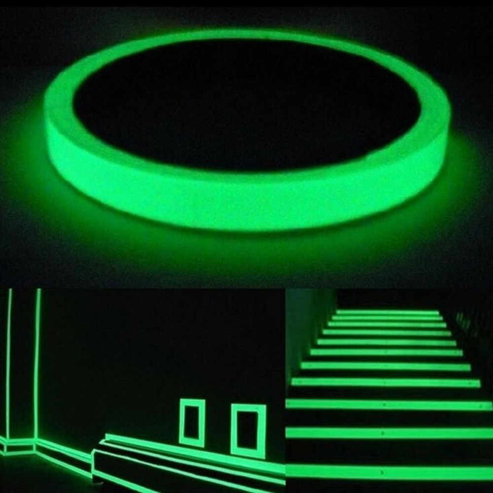 Wall Sticker DIY Family Luminous Tape Removable Night Vision Glow In Dark Self-adhesive Warning Tape Sticker For Home Decoration