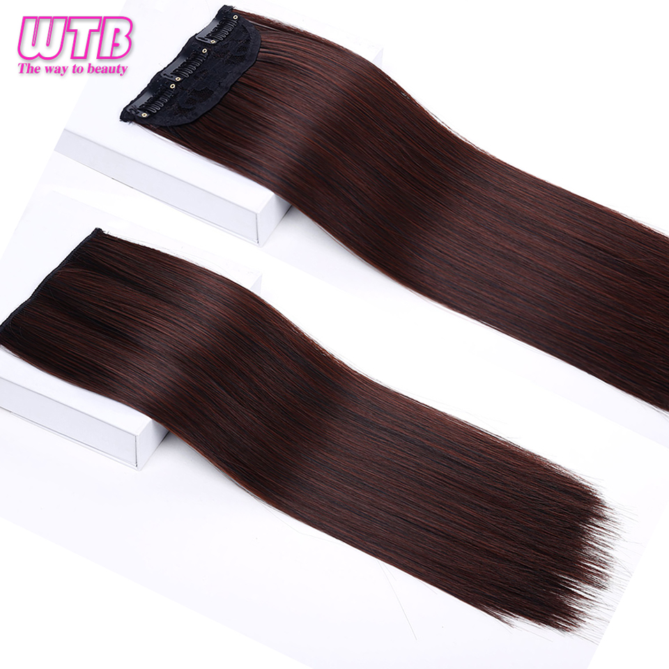 1 pcs Long Straight Synthetic Women Clip In Hair Extensions Heat Resistant Synthetic Hair Extensions 3 Clip In Hairpiece