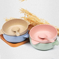 Hight quality 2pcs Toddler Baby Kids Child Feeding Training Bowl Spoon,Binaural Baby Feeding Bowl Tableware Children Plate Bowl