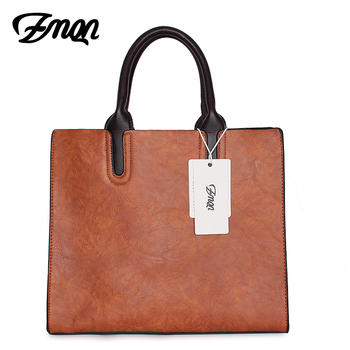 Brands Bags Womens leather Handbags Large Capacity Retro Vintage Hand Top-Handle Bags Solid Tote Sac Shoulder