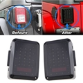 Tail Light LED Reverse Brake Taillights Replacement For 07-15 Jeep Wrangler JK Unlimited Robicon Sahara