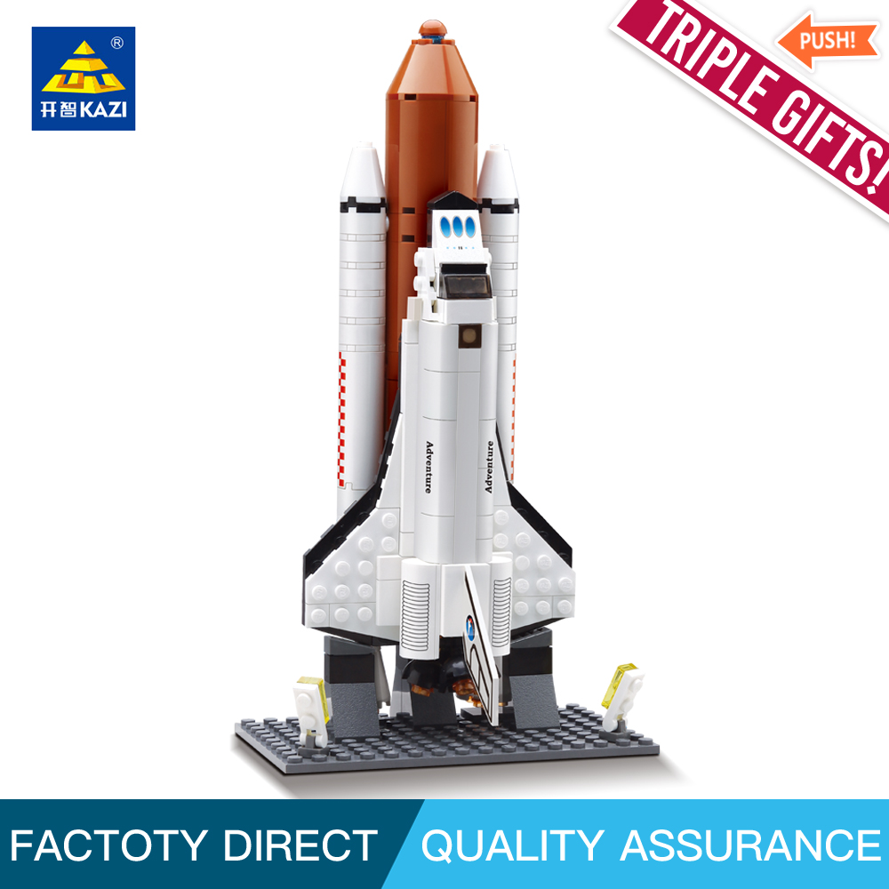 Kazi 83002 Figures Space Shuttle Expedition Model Building block Educational Christmas Toys for children Compatible legoed gudi 679pcs star space the shuttle launch center model building block bricks toys